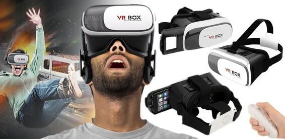 Скидка 50% На очки виртуальной реальности VR Box 2.0 или VR Box 2.0 + пуль  д у. 3D кинотеатр в смартфоне! 06cfb0214ae4d