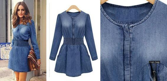 b7b7278a77b Скидка 50% На весеннее джинсовое платье. Женственный наряд на каждый день!