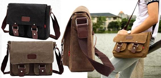 fbc0dd6d51ac Скидка 65% На брезентовую сумку через плечо. Возьмите с собой ноутбук!