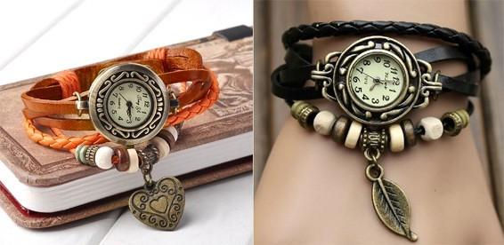 4ac20fb1 Скидка 50% На винтажные женские часы с плетёным кожаным ремешком и  брелоком. Хорошо забытое старое - это модно! Акция завершилась: 16.09.2014