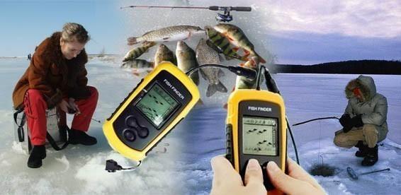 ловля рыбы с эхолотом