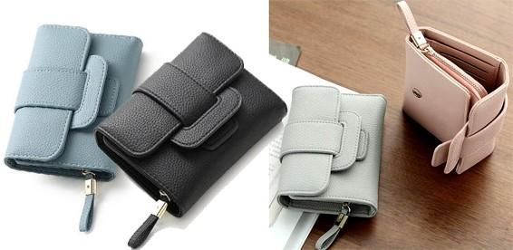 5dfe2dac8187 Скидка 50% На женский кожаный кошелек двойного сложения на кнопке.  Компактный и стильный!