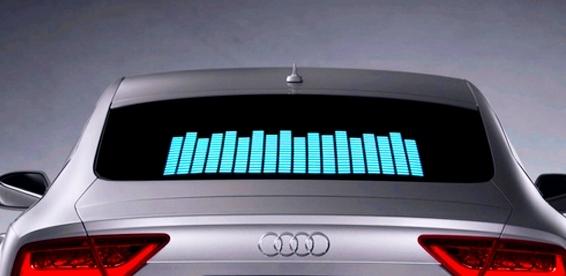 Как сделать эквалайзер на заднем стекле автомобиля