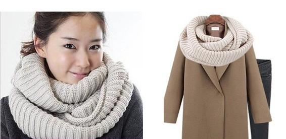вязаный шарф хомут фото