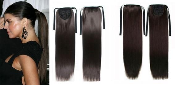 Как сделать из искусственных волос хвост