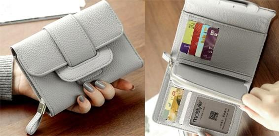 0073eb7c8da5 женский кожаный кошелек двойного сложения на кнопке: купить в Москве ...