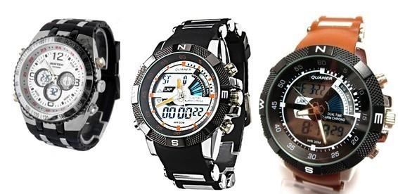 Мужские военные наручные часы - купить водонепроницаемые