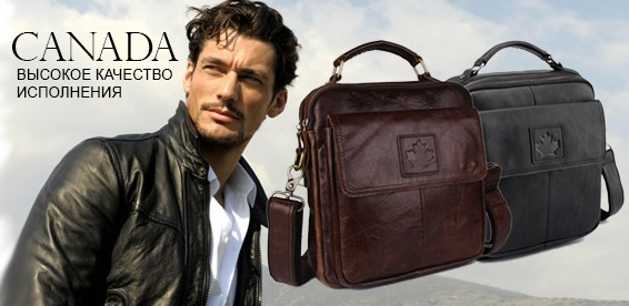 e679ae35c891 Скидка 50% На качественную мужскую сумку CANADA. Черный или коричневый цвет  на выбор!