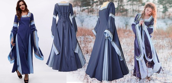 Фото средневековья платья