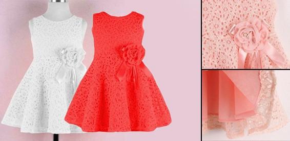 Платье кружевное детское
