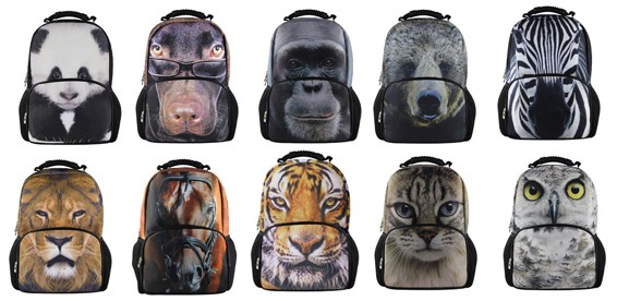 3д рюкзаки животные рюкзаки тряпочные