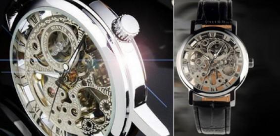 Часы мужские с открытым механизмом в