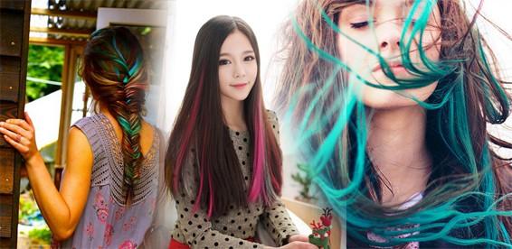 Пряди волос цветные купить