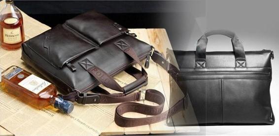 ab4a8a360446 Скидка 62% На кожаный мужской портфель Videng Polo PU. Атрибут современного  делового человека!