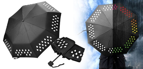 Зонт меняющий цвет под дождём купить