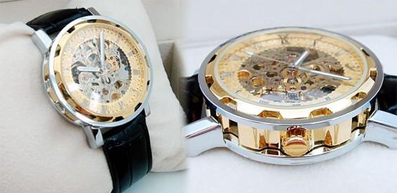 9e348c29 Скидка 59% На мужские наручные часы-скелетоны Skeleton Auto Leather Gift.  Любуйся работой механизма!