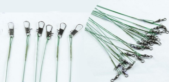 из чего делают металлический поводок для рыбалки