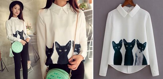 Блузка С Кошками В Санкт Петербурге