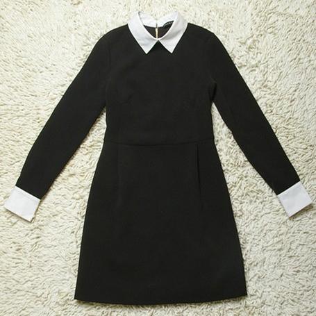 Платья черные с белым воротником с доставкой