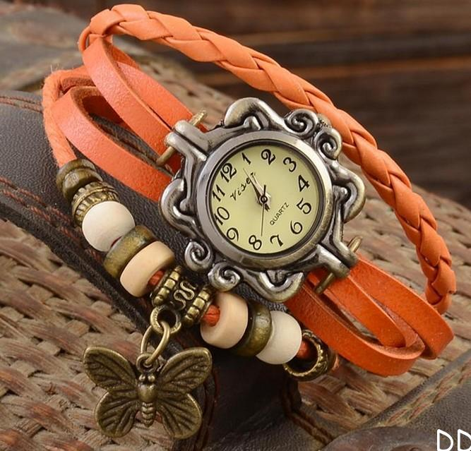 3df7efb8 винтажные женские часы с плетёным кожаным ремешком и брелоком: купить в  Москве и Санкт-Петербурге, цена, условия доставки, отзывы.
