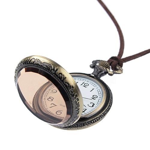 45 Круглая подвеска механические карманные часы ожерелье цепь.