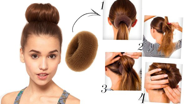 Как сделать гульку из волос с валиком - Walton