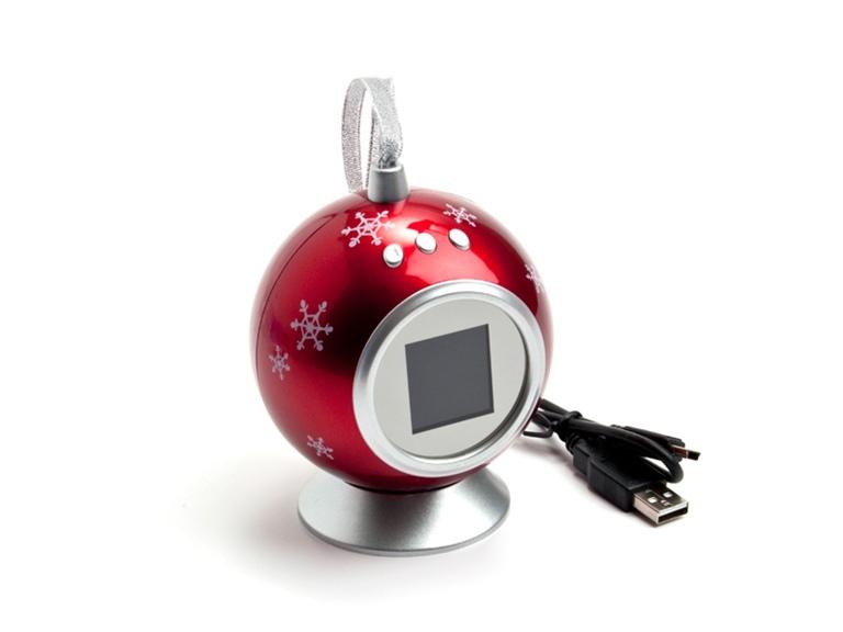 новогодний шар цифровая фоторамка особенно